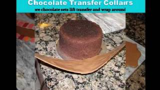 How to make chocolate transfer collars