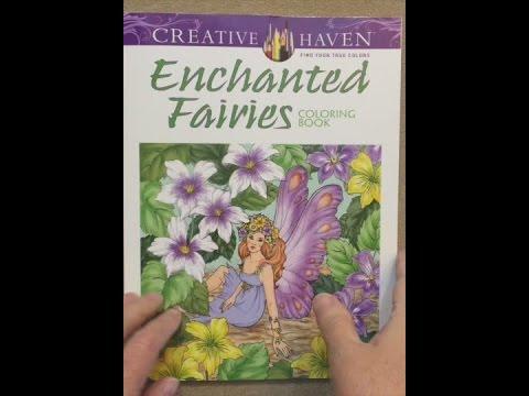creative haven enchanted fairies coloring book adult coloring flip through - Fairies Coloring Book