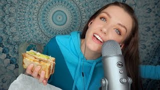 ASMR MUKBANG (EATING SOUNDS) Soft Spoken & Chewing