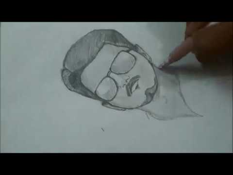 How To Draw Vijay Thalapathy Using One Pencil Youtube