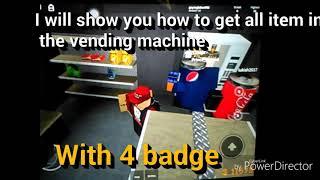 Roblox | Como usar a máquina de VENDING e obter humano SPIDER COLA terno + BADGE em DCS [OFFSALE]