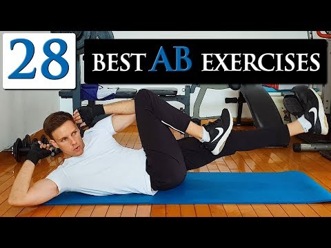 28 best ab exercises at home to GET A SIX PACK