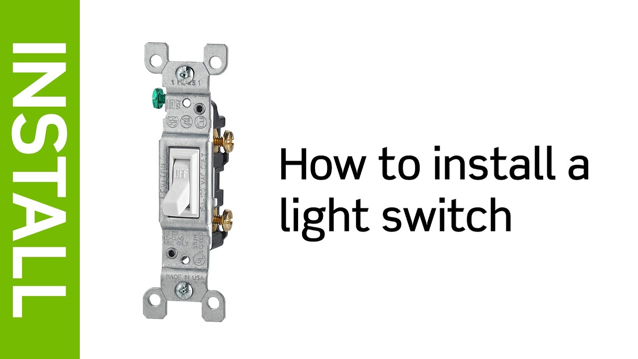 Leviton Presents: How to Install a Light Switch - YouTube on dimmer switch installation diagram, light switch cabinet, light switch cover, light switch power diagram, light switch installation, light switch timer, circuit diagram, light switch piping diagram, light switch with receptacle, wall light switch diagram, electrical outlets diagram,