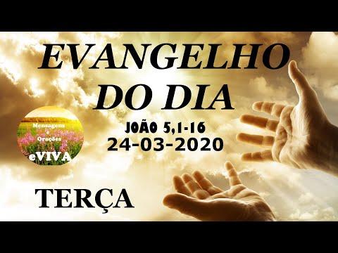 EVANGELHO DO DIA 24/03/2020 Narrado e Comentado - LITURGIA DIÁRIA - HOMILIA DIARIA HOJE from YouTube · Duration:  9 minutes 10 seconds