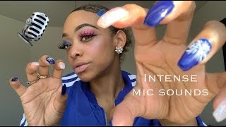ASMR | INTENSE mic sounds (mic scratching + mic brushing) | NO TALKING