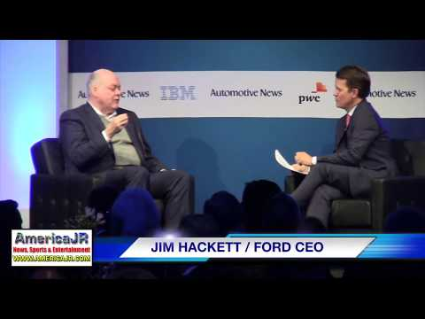 Ford CEO Jim Hackett addresses 2018 Automotive News World Co