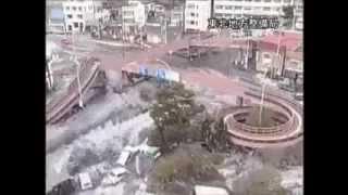 未公開的監視器所拍攝到的日本海嘯情景