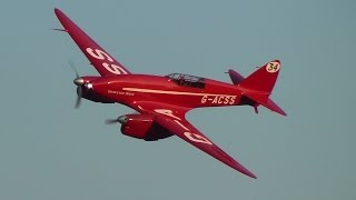 "DH.88 Comet ""Grosvenor House"" at Old Warden 7th September 2014"