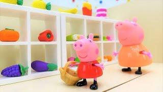 Свинка Пеппа и мама идут в магазин - Видео для детей