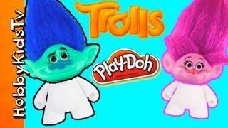 trolls rumble shake down battle play doh vinyl blank arts n crafts fun hobbykidstv