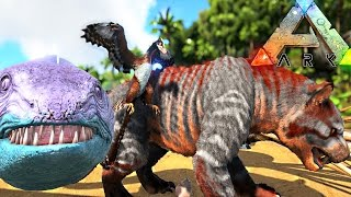 ARK Survival Evolved - NEW THYLACOLEO, AMMONITE, MICRORAPTOR & ELECTRO EEL FIRST LOOK - Gameplay
