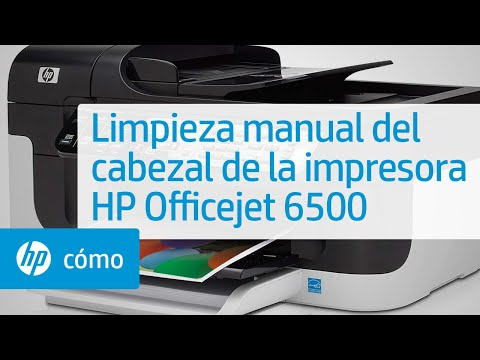 Limpieza manual del cabezal de la impresora HP Officejet 6500 | HP OfficeJet | HP