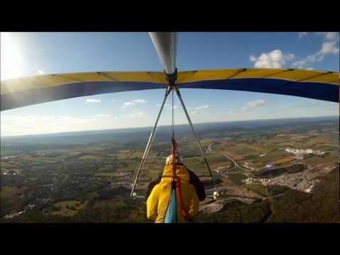Will Perez Hang Gliding at Pleasant Gap PA 9-10-2012
