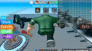Roblox-Making Muscle Simulator 5 (6 LİKE COMES REBİRTH WE WILL!) (10,000 STRENGTH)