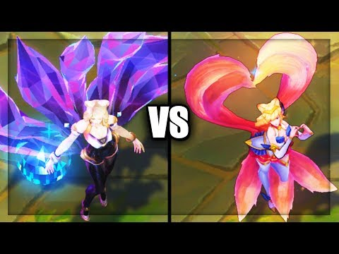 K/DA Ahri vs Star Guardian Ahri Legendary vs Epic Skins Comparison (League of Legends)