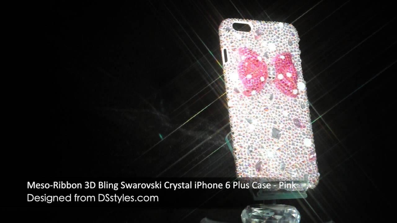 timeless design 639b4 6c232 Ribbon 3D Bling Swarovski Crystal iPhone 6 Plus Phone Case by DSstyles