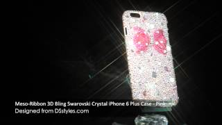 Ribbon 3D Bling Swarovski Crystal iPhone 6 Plus Phone Case by DSstyles Thumbnail