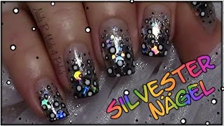 Silvester Nägel Easy New Year 39 s Eve Nail Art Einfaches Nageldesign