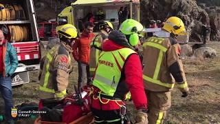 Simulacre d'actuacion en situacion d'emergéncia - GRM des Pompièrs d'Aran