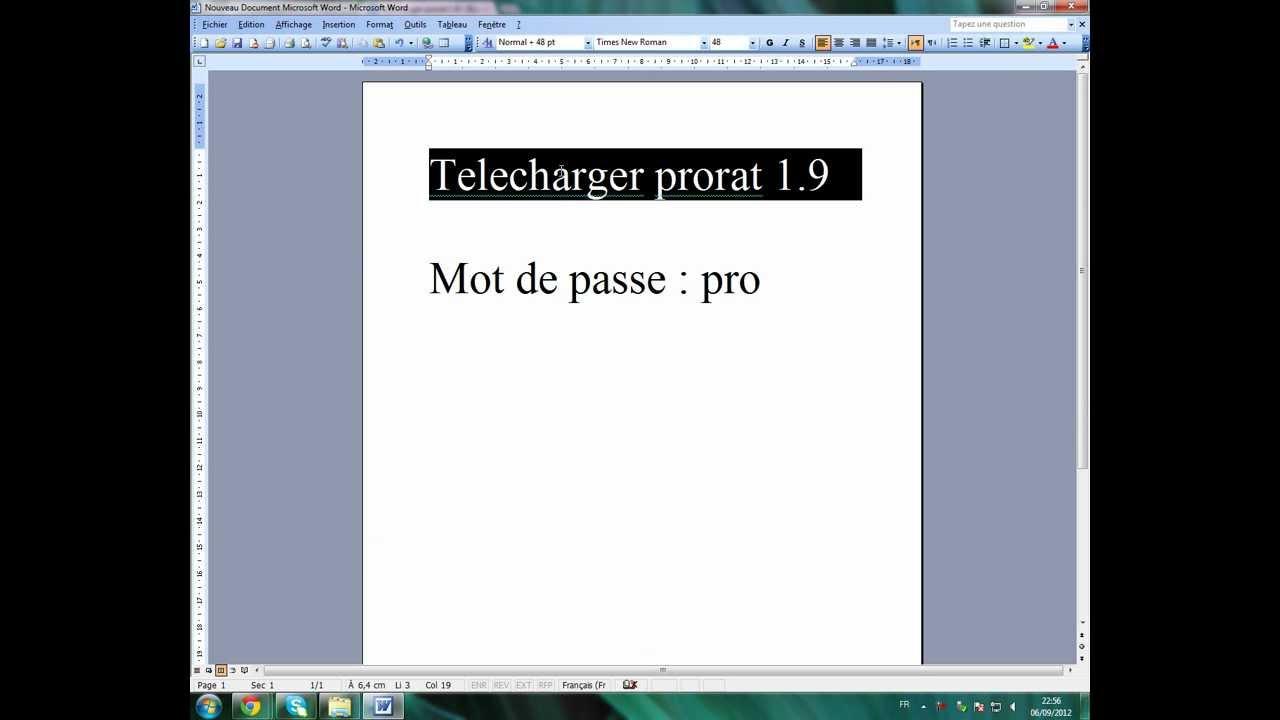 PRORAT 2012 TÉLÉCHARGER