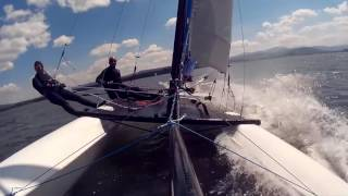 Prindle 16 catamaran sailing CAPSIZE double trapeze Poland