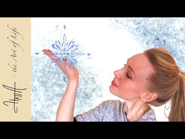 How to draw a snowflake mandala - guided tutorial