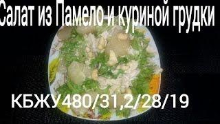 Фитнес-салат. Салат из Памело и куриной грудки