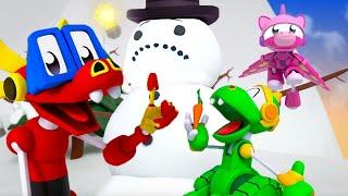 Животные Механика   12: Строим Снеговика   Мультяшный для малышей   WildBrain