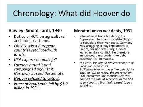Lesson 30 – President Herbert Hoover and the Crash