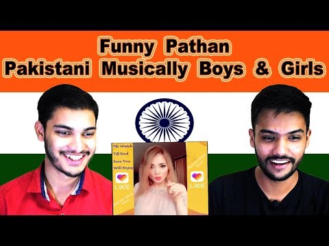 Indian reaction on Funny Pathan  Pakistani Musically Boys & Girls | Swaggy d