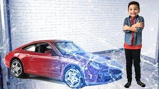 Новая машинка Порше изо льда. Видео для детей.