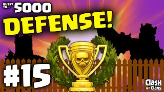 "Clash of Clans Defense! The ""Quest to 5000 Trophies"" in Clash of Clans #15 ♦ CoC ♦"