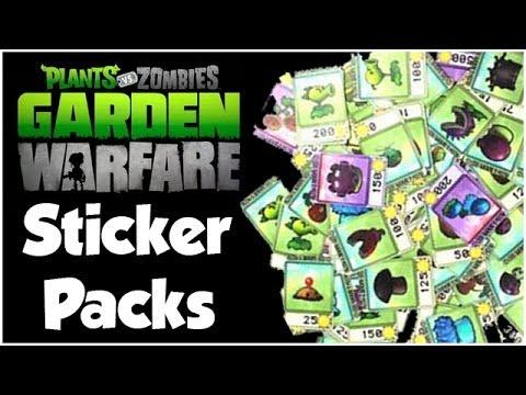 Plants vs. Zombies Garden Warfare - Sticker Pack Opening!! Sticker ...