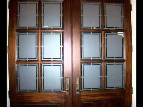 On-site Residential Reverse Decorative Privacy Glass Etching of Front Entry Doors Mini Tutorial