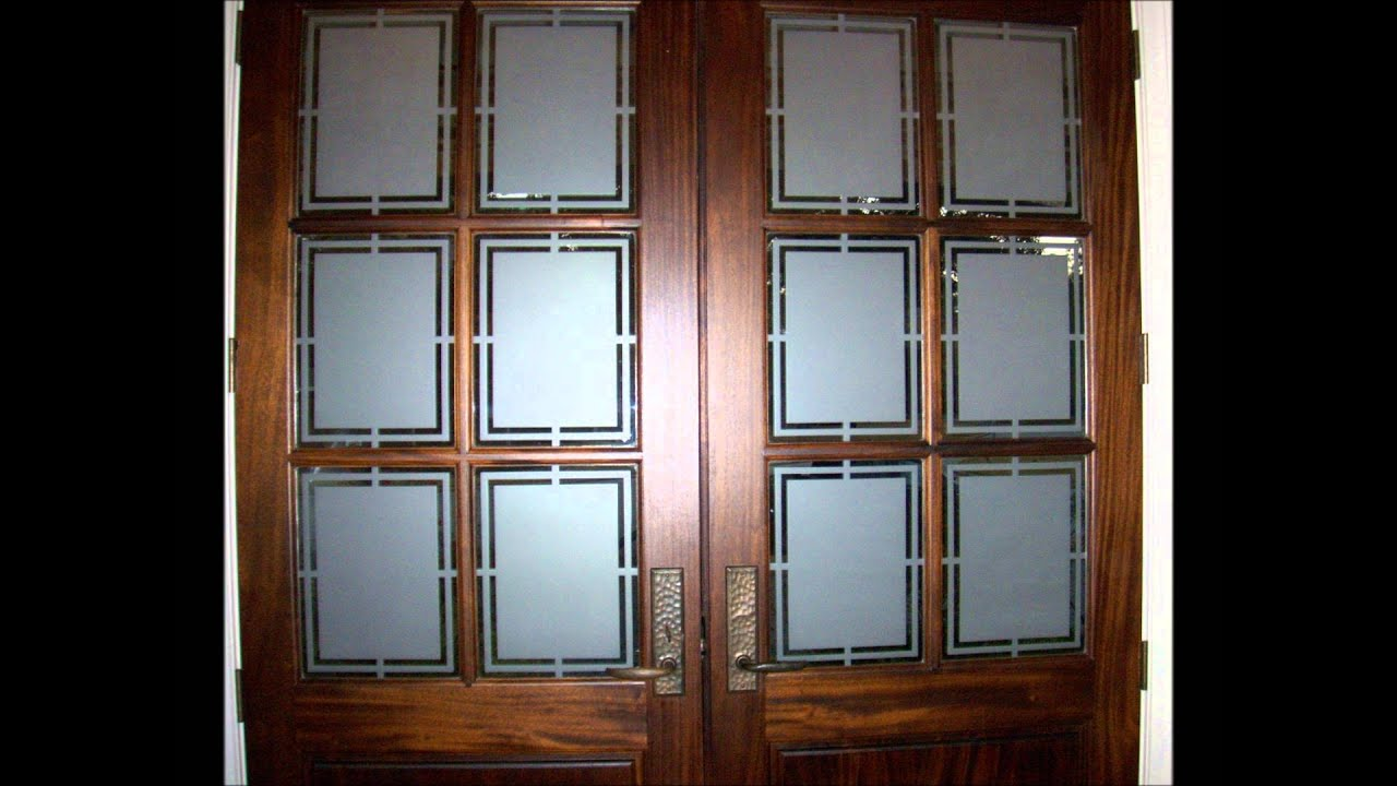On site Residential Reverse Decorative Privacy Glass Etching of Front Entry  Doors Mini Tutorial YouTube