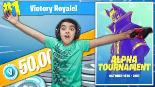 MY 6 YEAR OLD LITTLE BROTHER JOINS THE NEW FORTNITE TOURNAMENT & ATTEMPTS TO WIN THE ULTIMATE PRIZE!