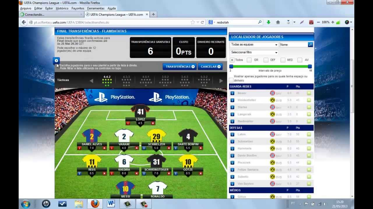 VideoCast UEFA Champions League Fantasy 2012/2013 Final ...