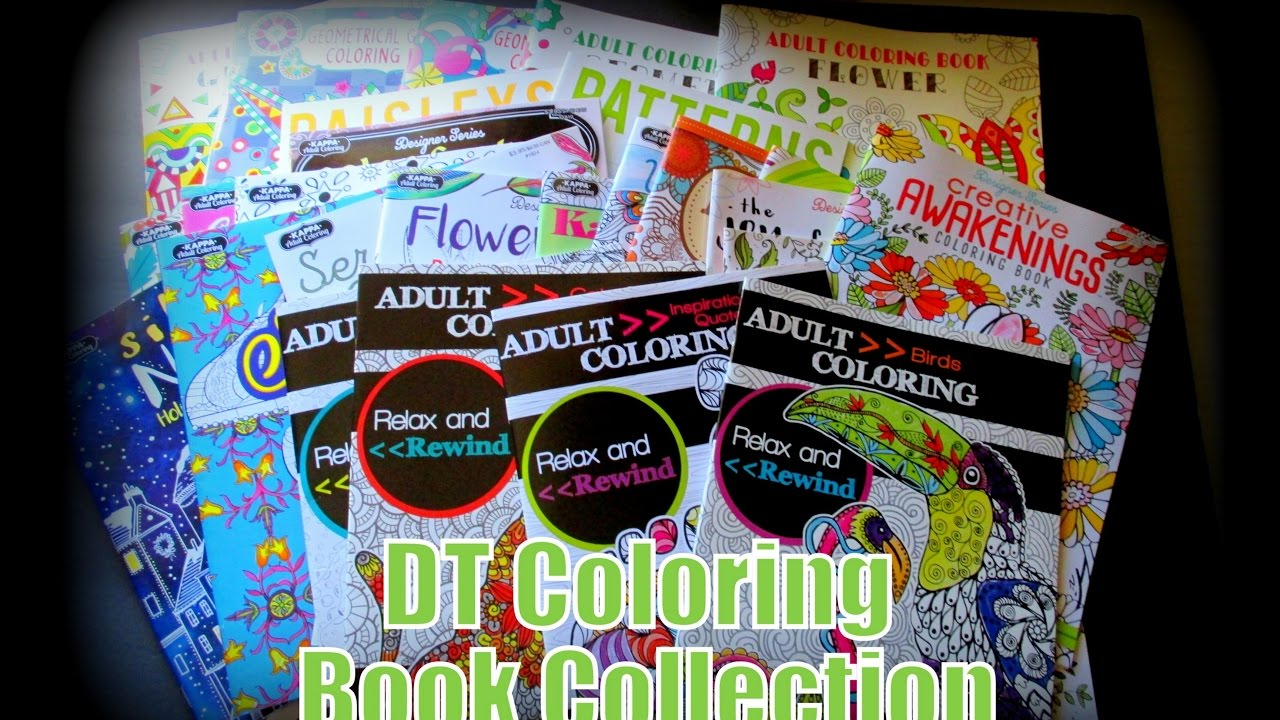 dollartree adult coloring book collection - Dollar Tree Coloring Books