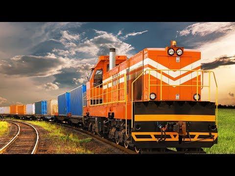 Поезда для детей. Железнодорожный транспорт.  Виды вагонов. Развивающее видео для детей