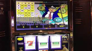 """""""Mr. MoneyBags""""  VGT Slots $25 Red Win Spins Choctaw Gaming Casino, Durant, OK"""