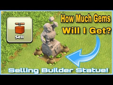 SELLING MY BUILDER'S STATUE!😱HOW MUCH GEMS WILL I GET??😱😱| CLASH OF CLANS