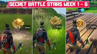 All Season 10 Secret Battle Stars Locations (Week 1 - Week 6)! - Fortnite Season X