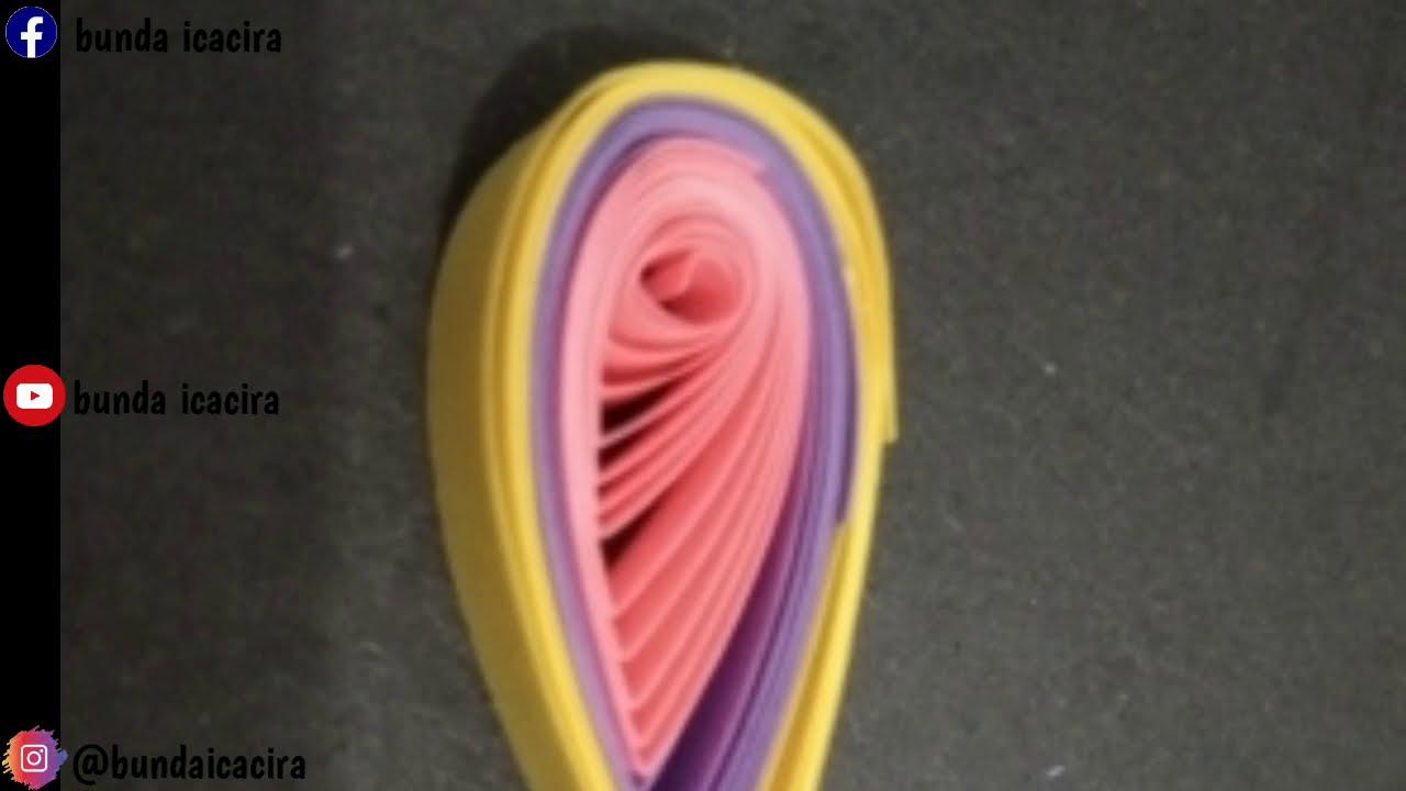 Quilling paper basic-Membuat kelopak bunga 3 warna