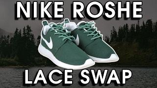 Nike Roshe One Lace Swap! - YouTube