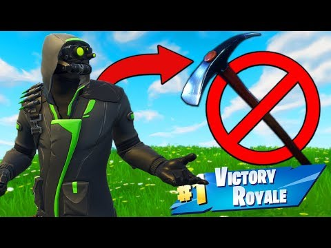 Winning With *NO PICKAXE* Challenge In Fortnite Battle Royale!