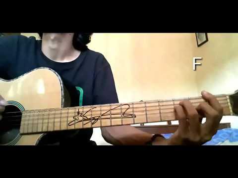 Chord Gitar Anji   menunggu Kamu // Cara Cepat Bermain Gitar // Cover Abuilmi
