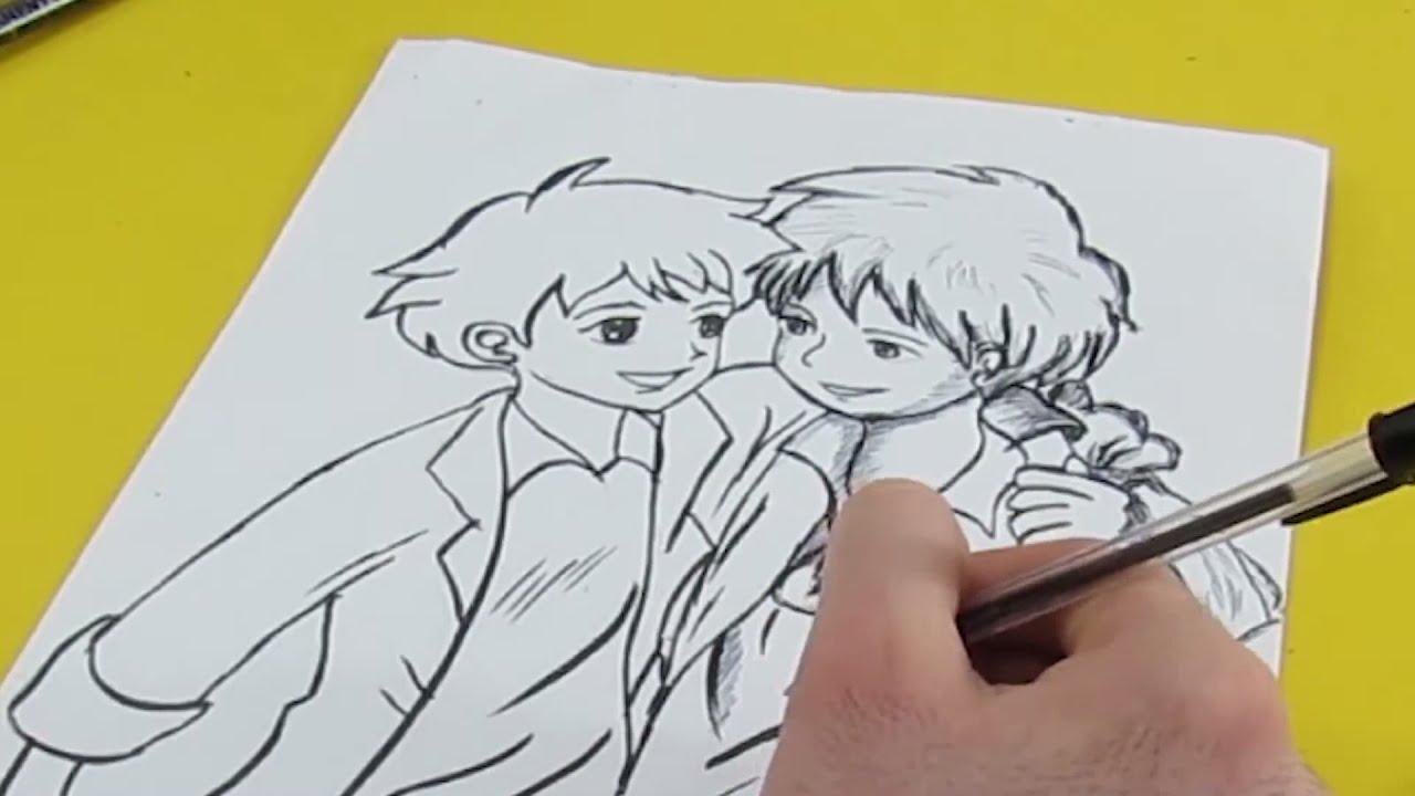 رسم انمي عهد الاصدقاء روميو وصديقه من مسلسل عهد الاصدقاء على قناة