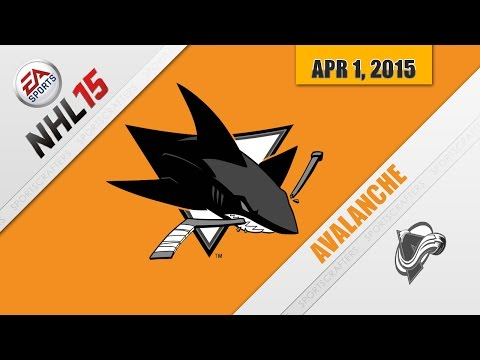 AVALANCHE vs SHARKS (Play NHL 15)