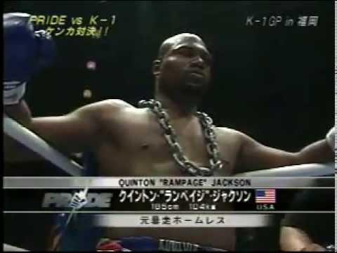 PRIDE (MMA) Vs K-1 (Kickboxing): Quinton 'Rampage' Jackson Vs Cyril Abidi