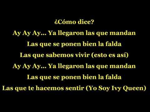 Las Que Se Ponen Bien La Falda - MARIA JOSE ft. IVY QUEEN (letra)